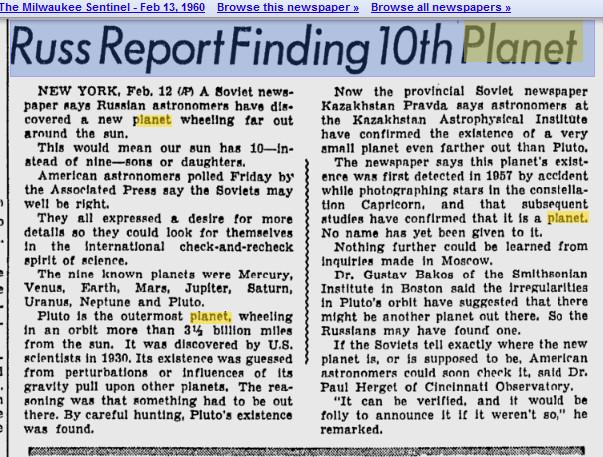 Newspaper 1960 report