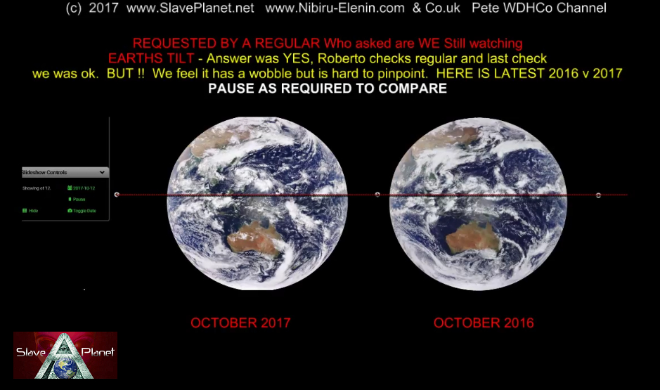 EARTH TILT POLE SHIFT NEWS Latest 2016 v 2017 October REPORT inclinación de la tierra