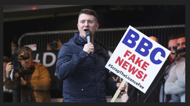 BBC Fake NEWS Tommy Robinson stitch up welcome to Orwells 1984 PREPARE TO BE SLAVES