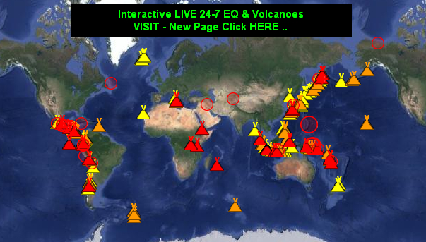 Live Earthquake Volcanoes Real Time Global Interactive