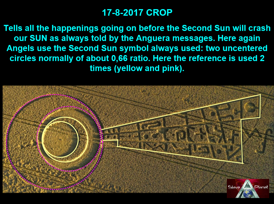 CROP CIRCLE Solar Eclipse Crop DECODED Roberto 2017