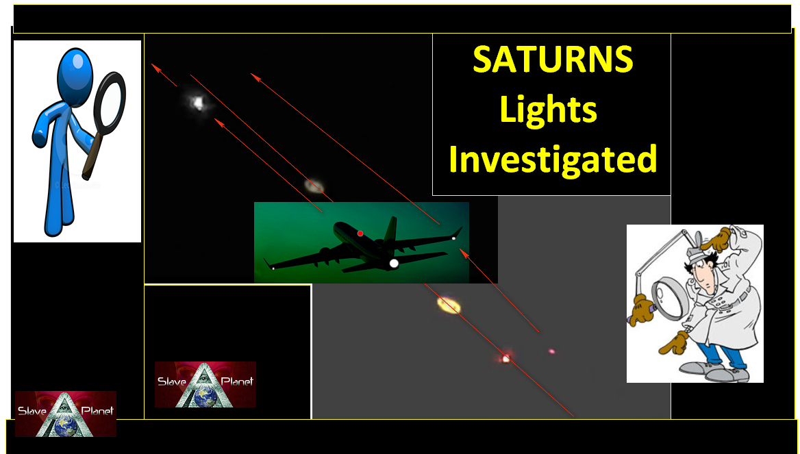 SATURN Mystery Lights Captured by Video SOLVED 2017 The Plane filmed passing Saturn Movie