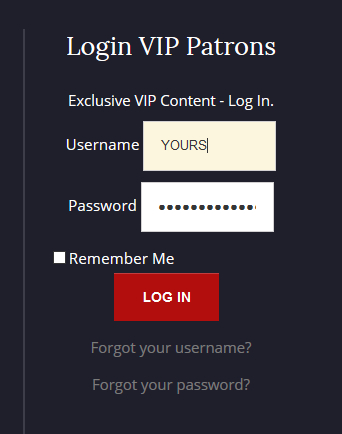VIP Log In sample