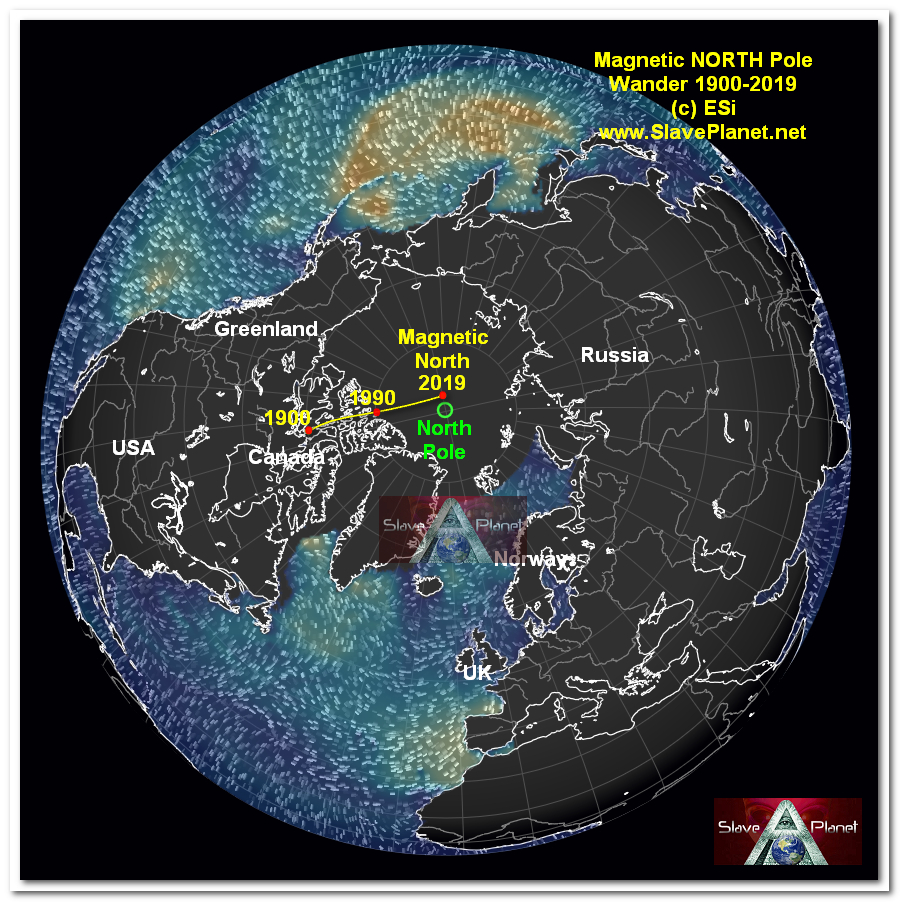 Magnetic NORTH POLE SHIFT NEWS Are we being DUPED Somethings wrong BIG TIME