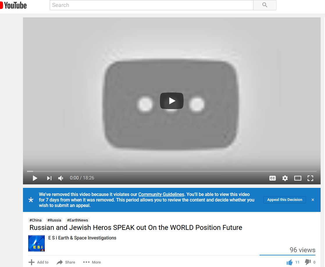 YOUTUBE BAN VIDEO In 30minutes Russia and Jewish HEROs Speak OUT On the World Dangers MUST SEE Why it was Banned