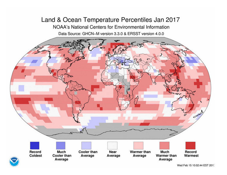 2016 earth temp report