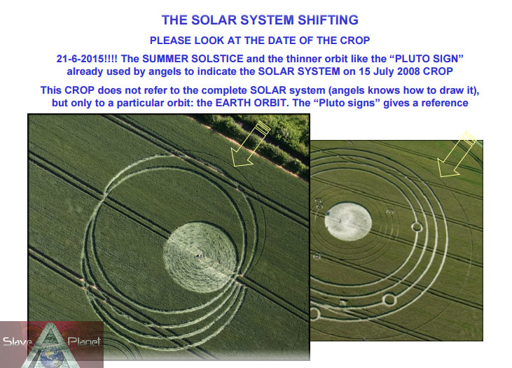 earths Orbit crop circle